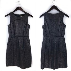 Shoshanna Black Metallic Cute Dress 0
